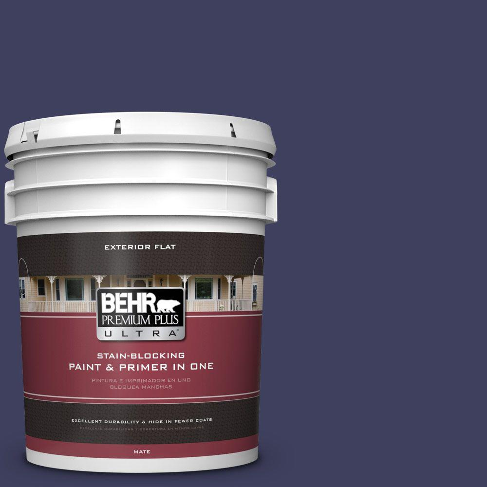 BEHR Premium Plus Ultra Home Decorators Collection 5-gal. #HDC-MD-01 Majestic Blue Flat Exterior Paint