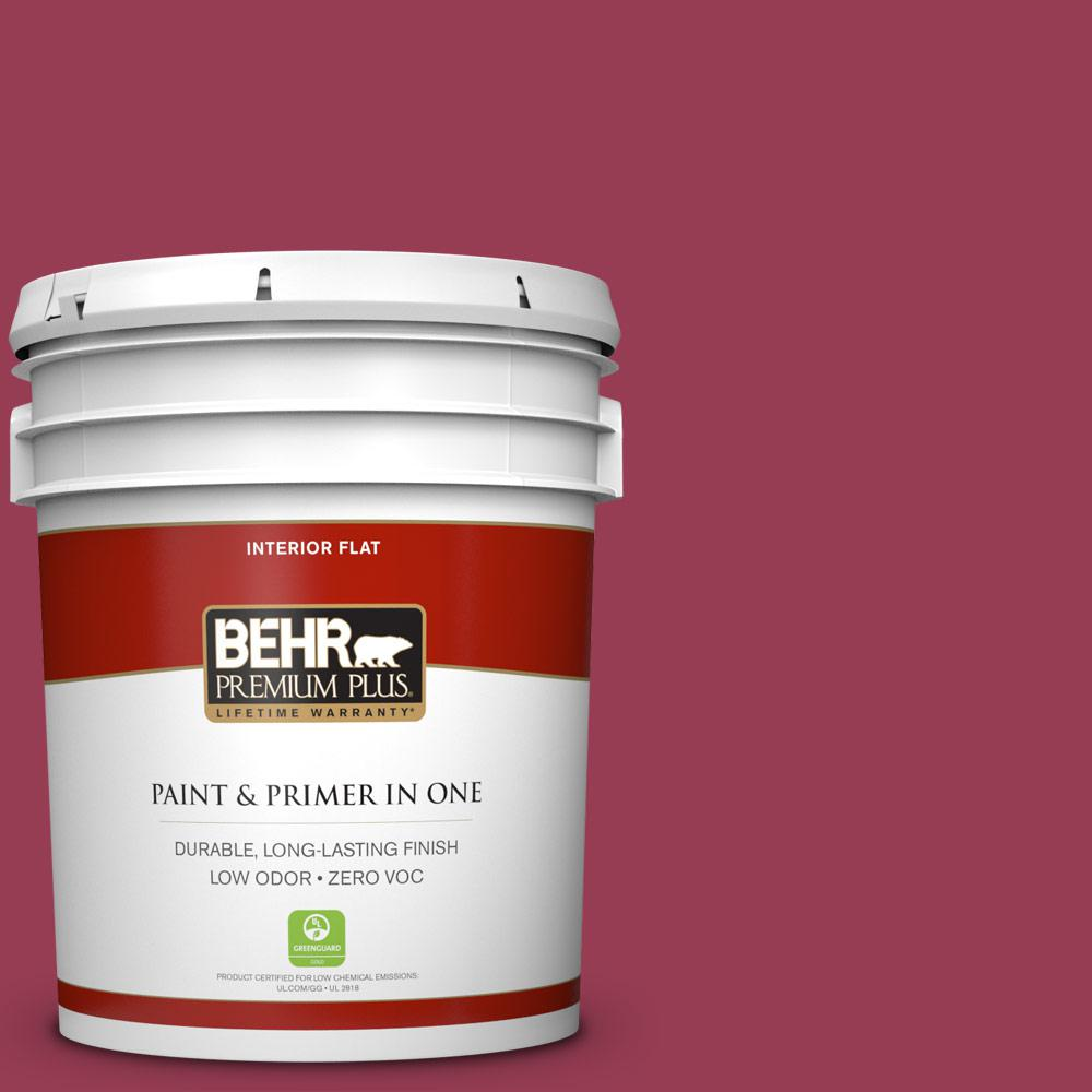 5 gal. #HDC-CL-04 French Rose Zero VOC Flat Interior Paint