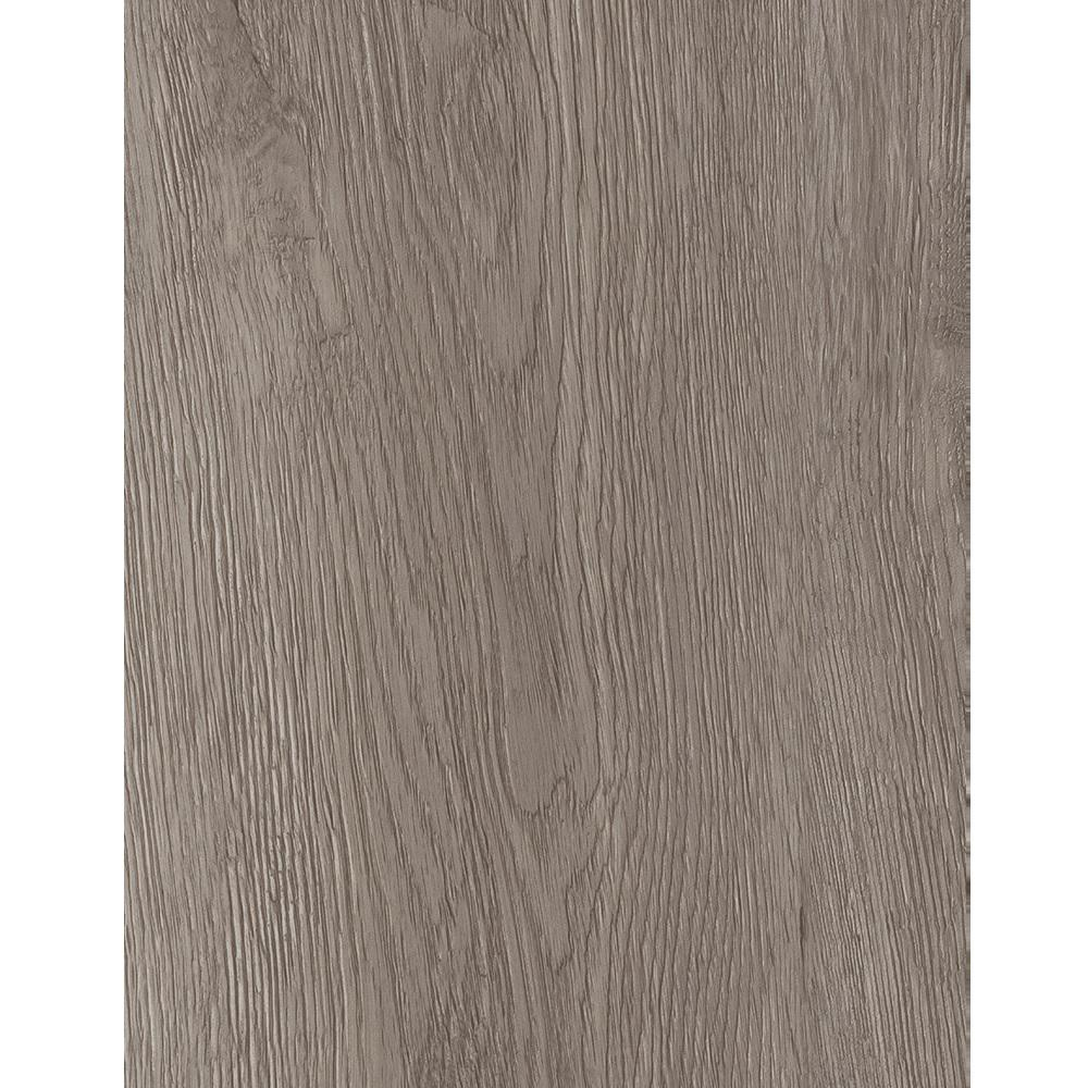 Is Taupe Grey: TrafficMASTER Taupe Oak 6 In. X 36 In. Peel And Stick