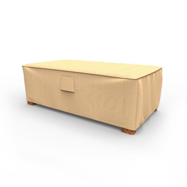 Rust-Oleum NeverWet Medium Tan Outdoor Patio Ottoman Cover/Coffee Table Cover