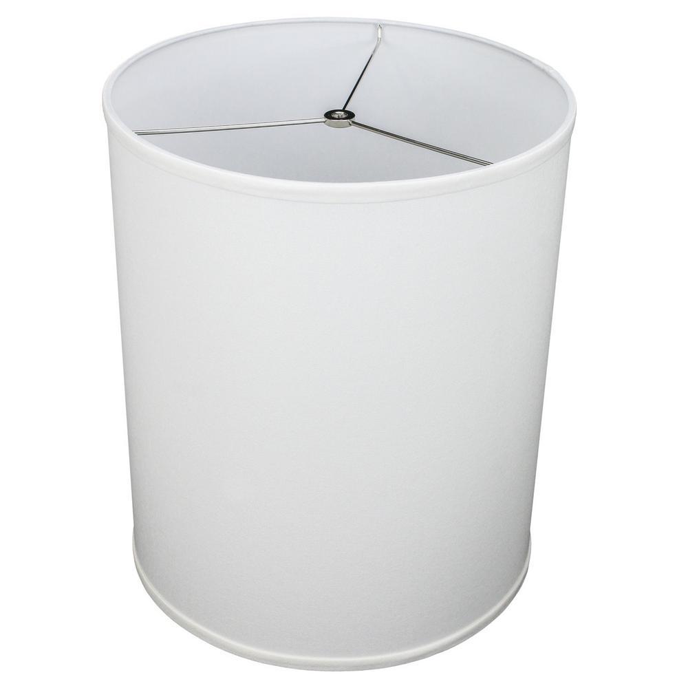 14 in. Top Diameter x 14 in. Bottom Diameter x 17 in. Height Linen White Drum Lamp Shade