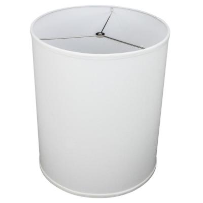 14 in. Top Diameter x 14 in. Bottom Diameter x 17 in. Height Linen White Drum Lamp Shade