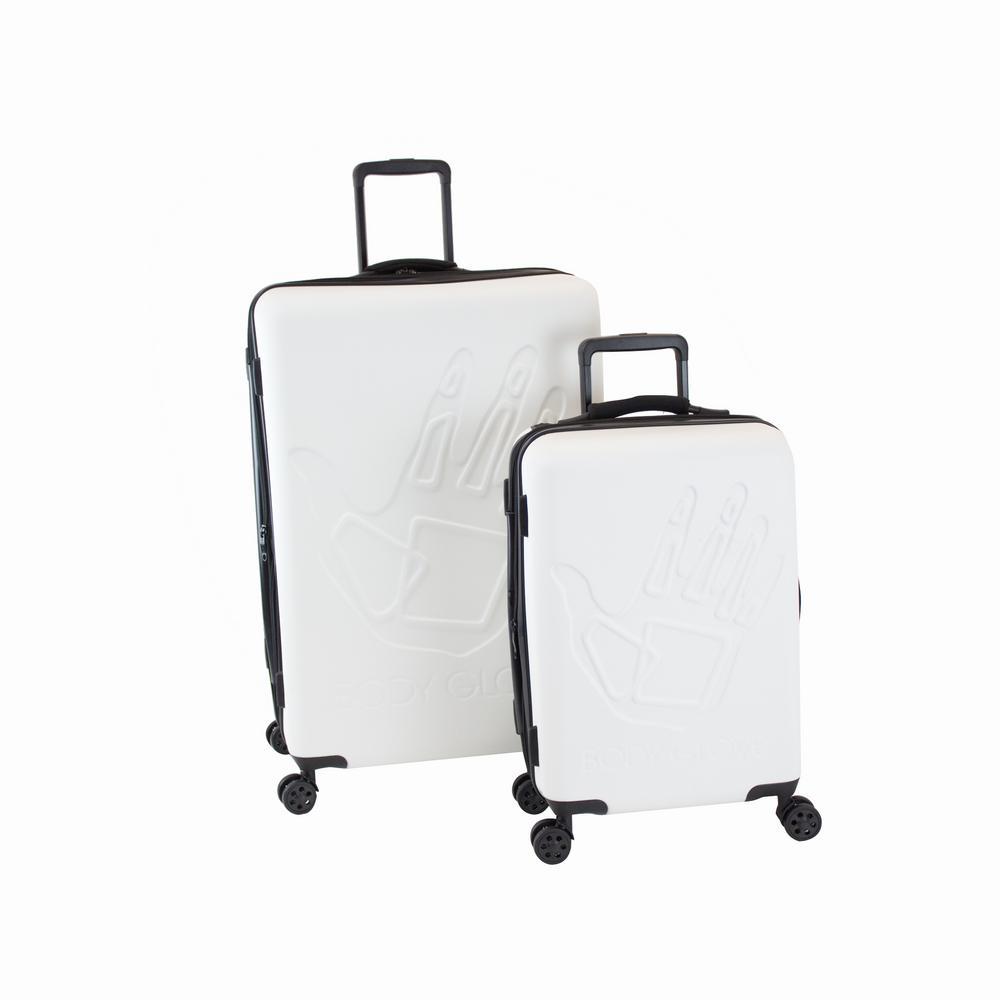 3e4f7600afc1 Body Glove Redondo 2-Piece White Hardside Luggage Set BG143-ST2-WHI ...