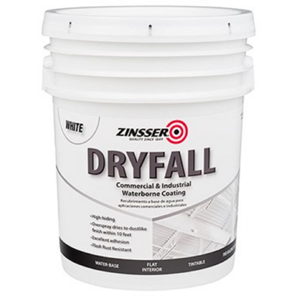 Zinsser 5 gal. Waterbourne Dry Fall White Coating