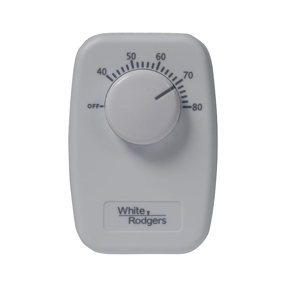 WHITE RODGERS B50 Baseboard Non-Programmable Thermostat - Dual Pole