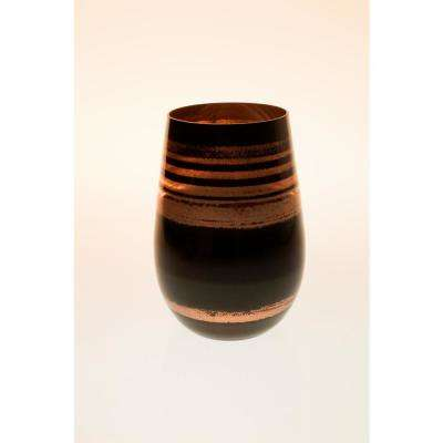 Cosmo 16.5 oz. Stemless Wine Tumbler - Black/Bronze (Set of 4)