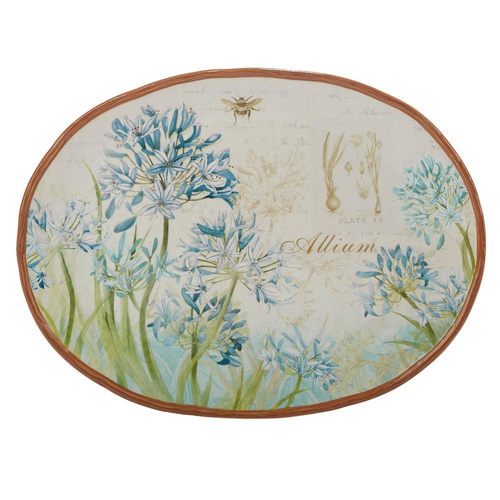 Certified International Herb Blossoms Multi-Colored 16 in. x 12 in. Ceramic