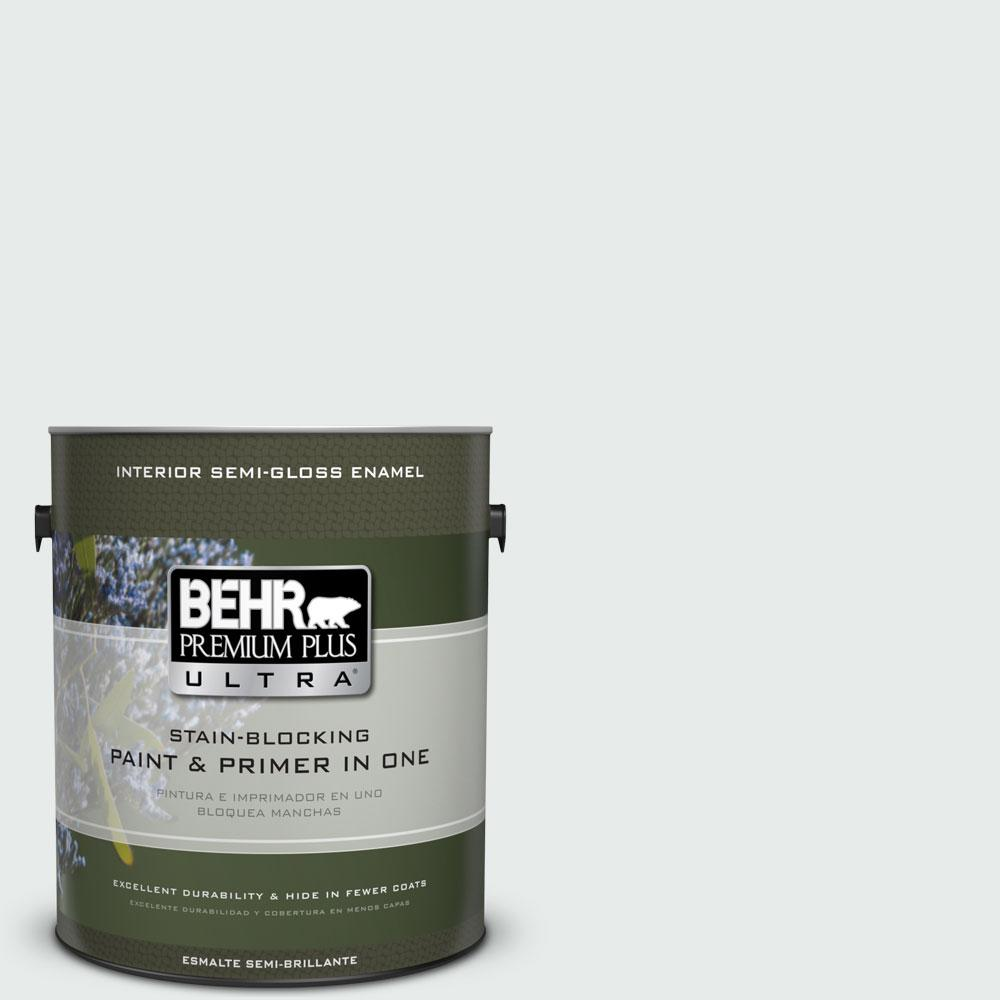 1-gal. #BL-W5 Dusting Powder Semi-Gloss Enamel Interior Paint
