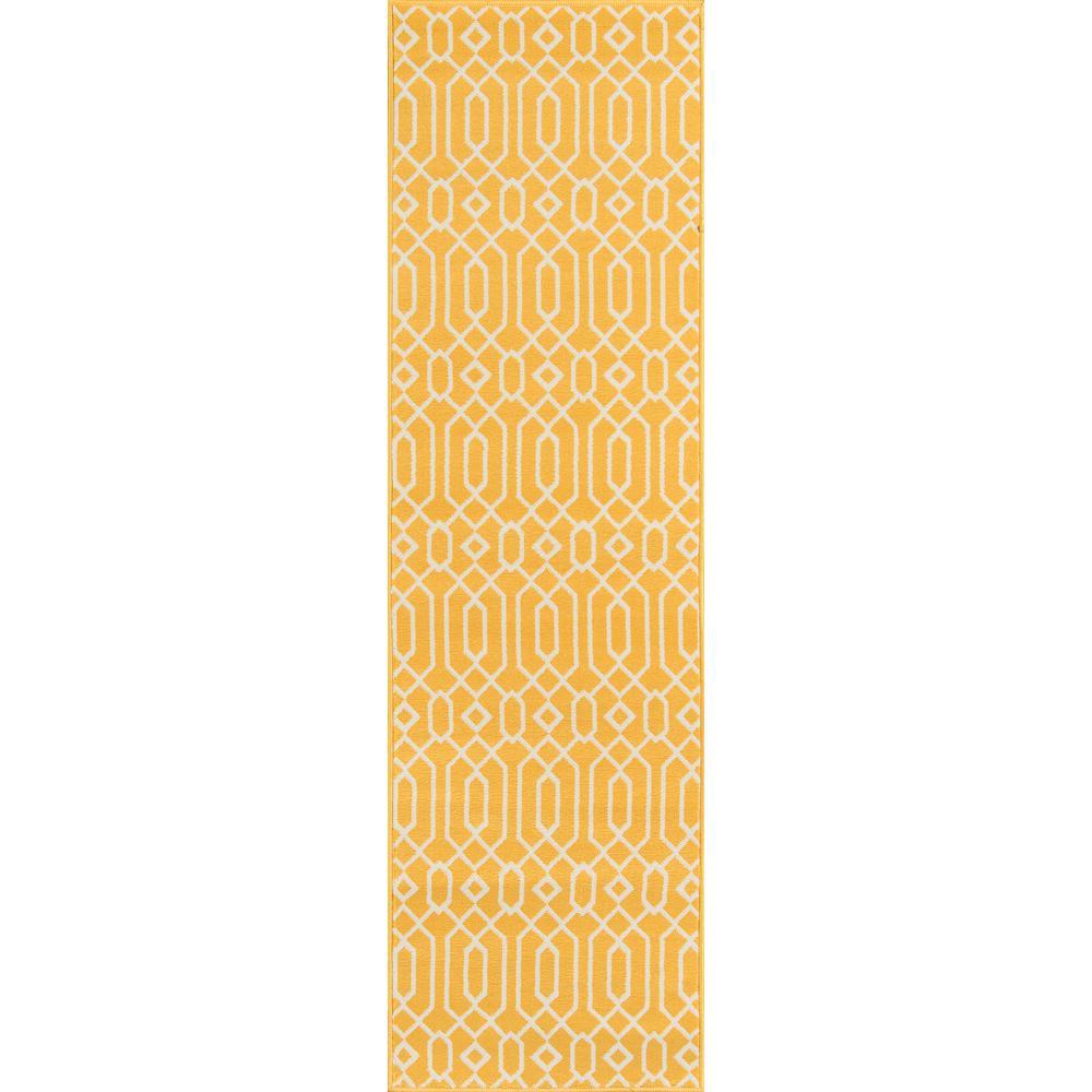 Baja Links Yellow 2 ft. 3 in. x 7 ft. 6 in. Indoor/Outdoor Runner