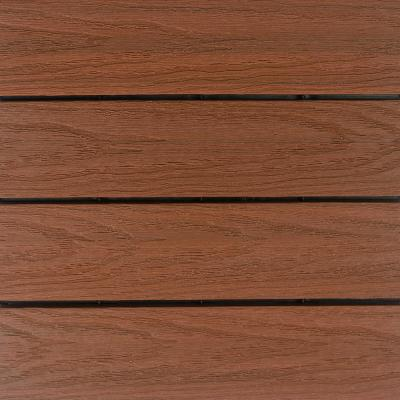 UltraShield Naturale 1 ft. x 1 ft. Quick Deck Outdoor Composite Deck Tile in Honduran Mahogany (10 sq. ft. Per Box)