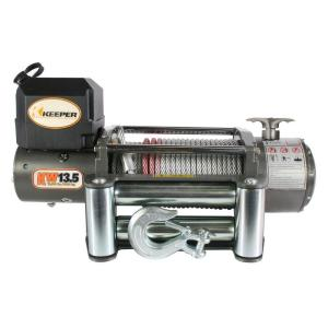Click here to buy Keeper 13,500 lbs. Utility Winch 12VDC with Wireless Remote by Keeper.