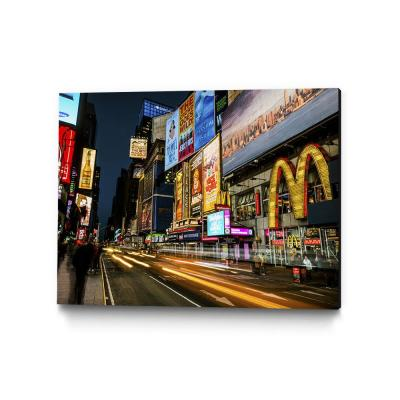 "30 in. x 40 in. ""Times Square Rays of Light IV"" by Guilliame Gaudet Wall Art"