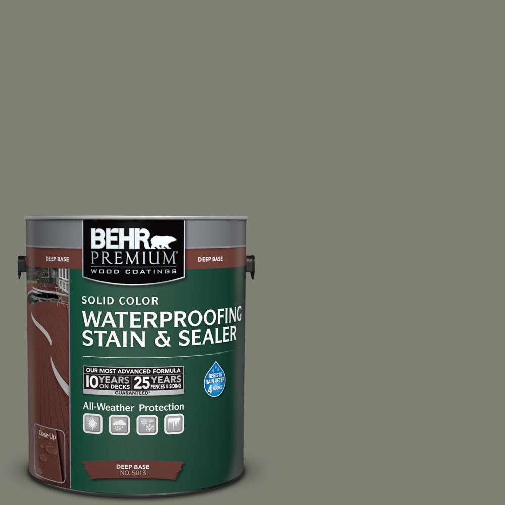 BEHR Premium 1 gal. #SC-137 Drift Gray Solid Color Waterproofing Stain and Sealer
