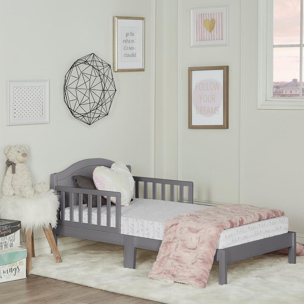 Dream On Me Sydney Steel Grey Toddler Adjustable Toddler Bed-647-SGY ...