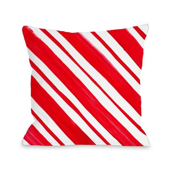 Candy Stripe 16 in. x 16 in. Decorative Pillow 74299PL16