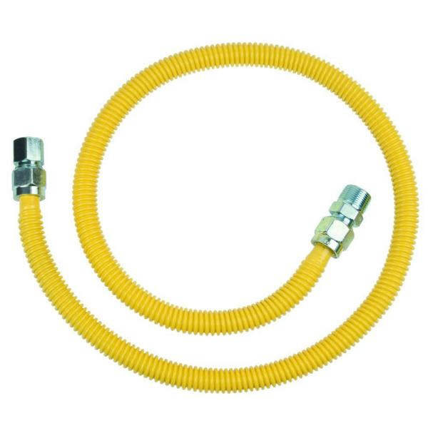 ProCoat 3/4 in. MIP x 1/2 in. FIP x 48 in. Stainless Steel Gas Connector 5/8 in. O.D. (106,000 BTU)