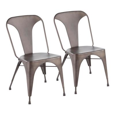 Austin Antique Metal Dining Chair (Set of 2)