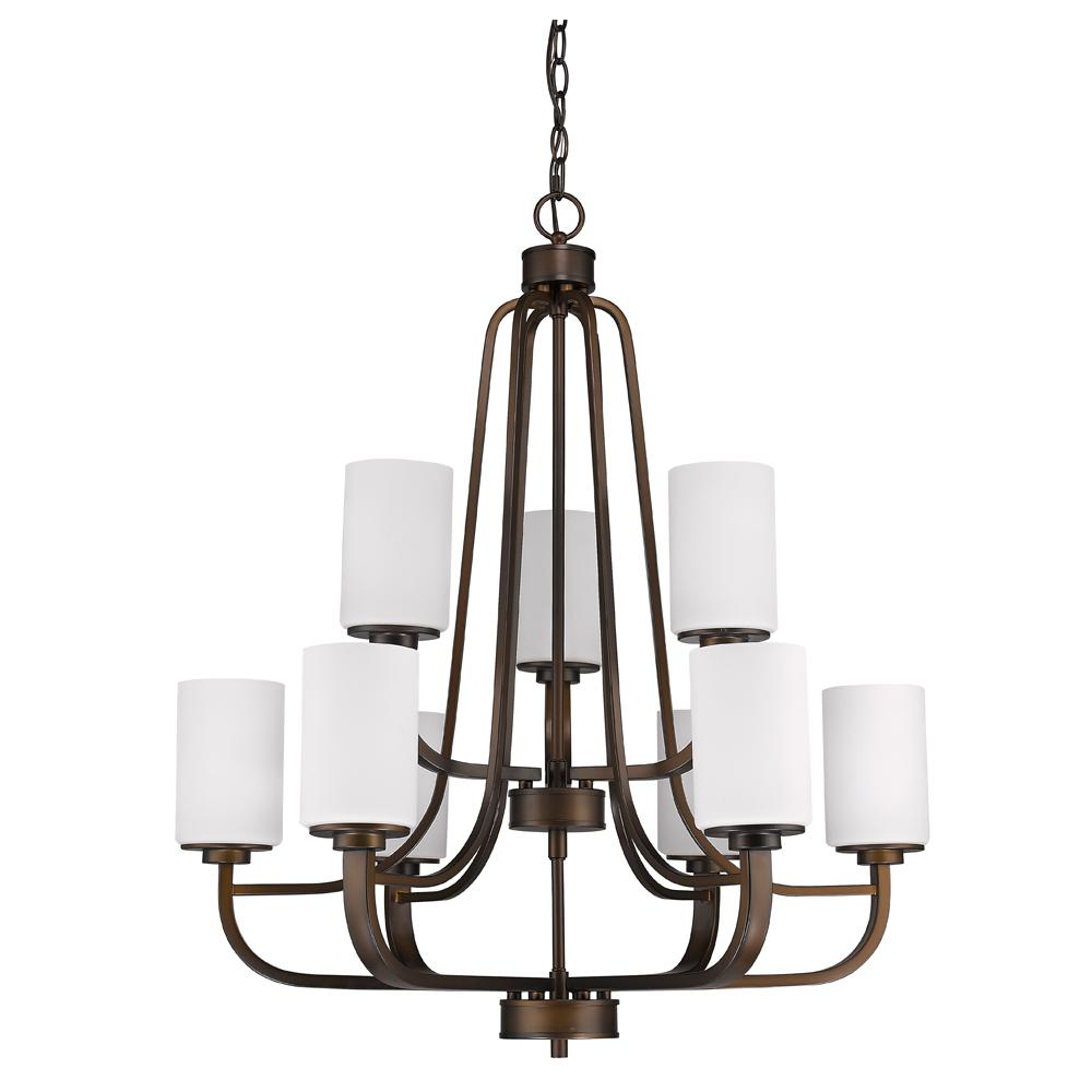 Acclaim Lighting Addison Indoor 9-Light Oil Rubbed Bronze Chandelier with Glass Shades