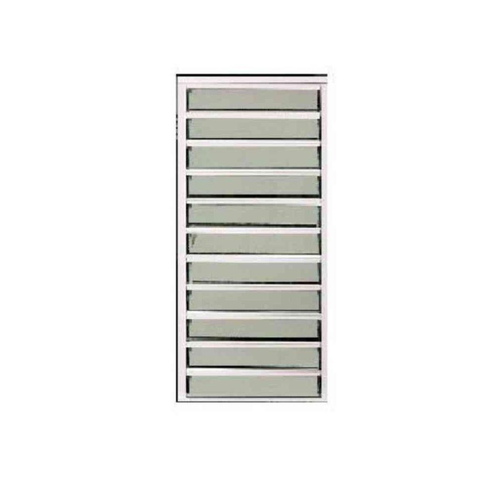 24 in. x 58.75 in. Master View Louver Aluminum Windows -