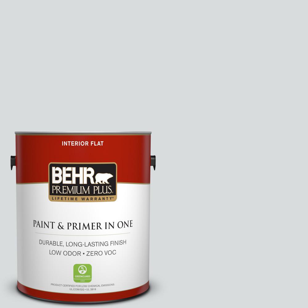BEHR Premium Plus 1-gal. #PPL-65 Silver Charm Zero VOC Flat Interior Paint