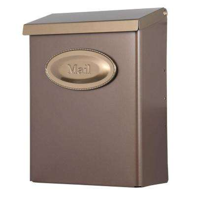 Designer Vertical Wall-Mount Locking Medium Mailbox with Venetian Bronze