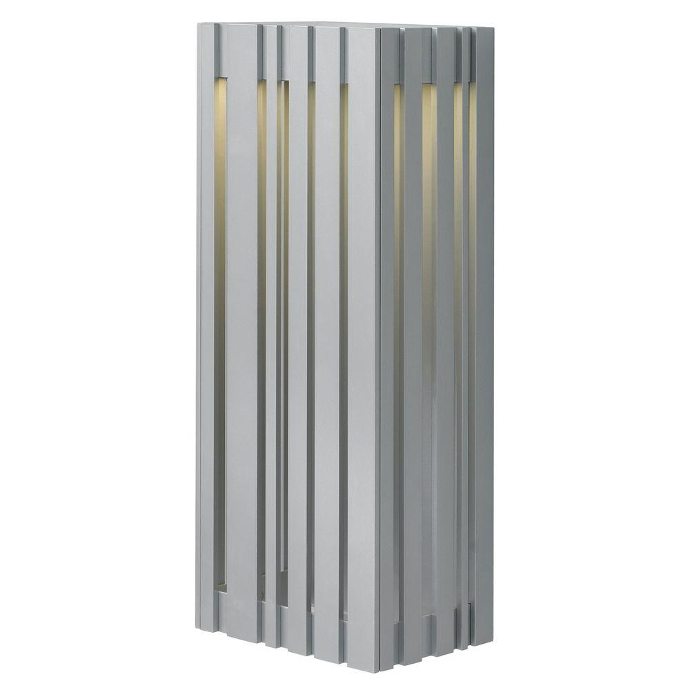 LBL Lighting Uptown 1 Light Silver Outdoor Large LED Wall