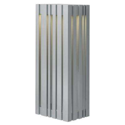 Uptown 1-Light Silver Outdoor 17.7 in. Large LED Wall Light