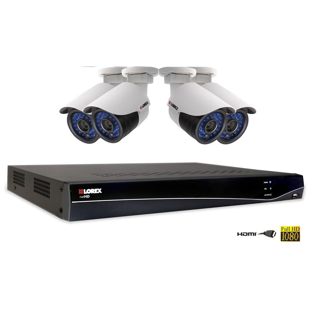 Lorex 4-Channel 1080p HD NVR with 1TB HDD and 4 1080p HD Cameras