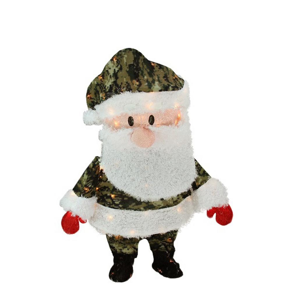 Santa Claus Lawn Decorations: Product Works 32 In. Christmas Pre-Lit Lane Camo Santa