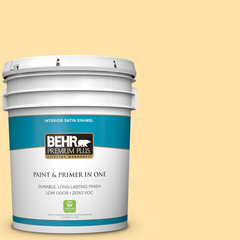 5-gal. #P270-3 Sunflower Seed Satin Enamel Interior Paint