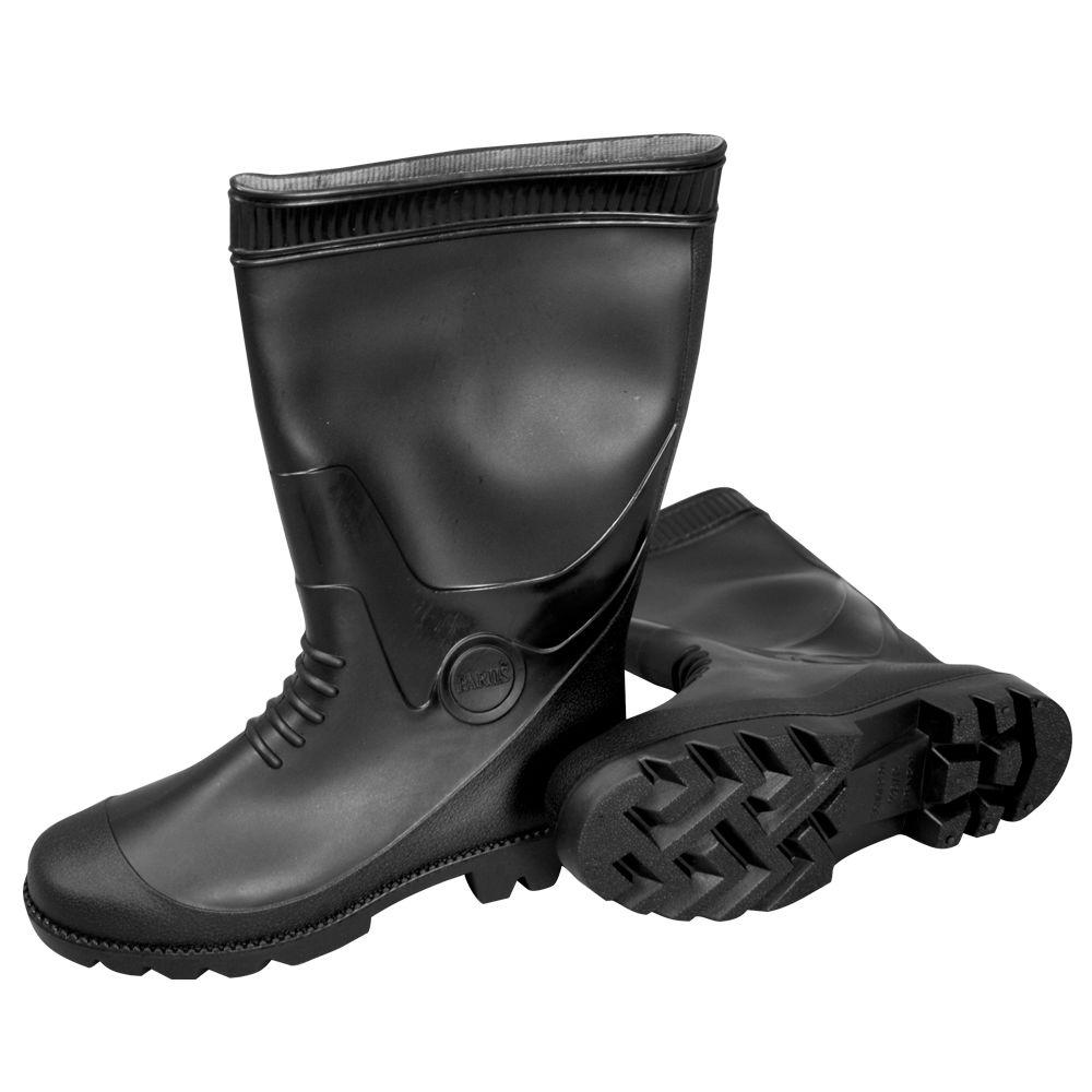 d3384ced8f41 MAT Size 12 PVC Black Boots-887012B - The Home Depot