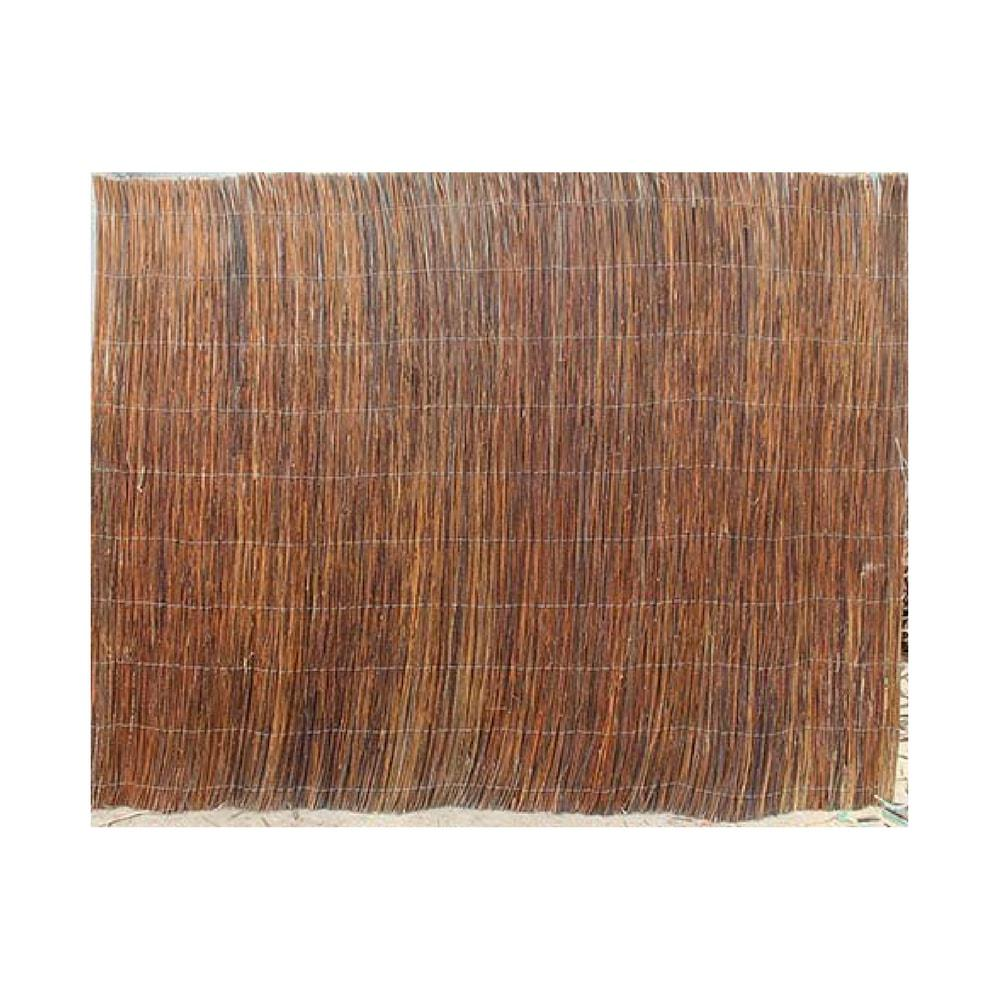 GardenPath 4 ft. H x 8 ft. W. Natural Peeled and Polished Reed ... for bamboo wall covering home depot  587fsj