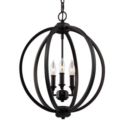 Corinne 3-Light Oil Rubbed Bronze Pendant