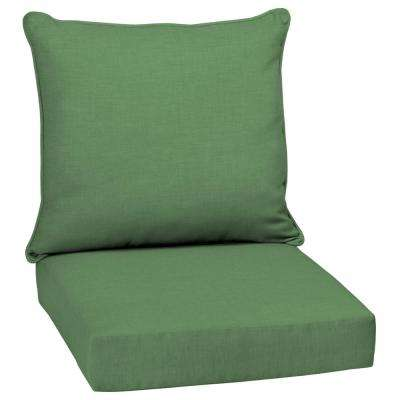 Moss Leala Texture 2-Piece Deep Seating Outdoor Lounge Chair Cushion