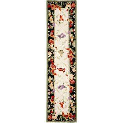 Chelsea Ivory/Black 2 ft. 6 in. x 12 ft. Runner