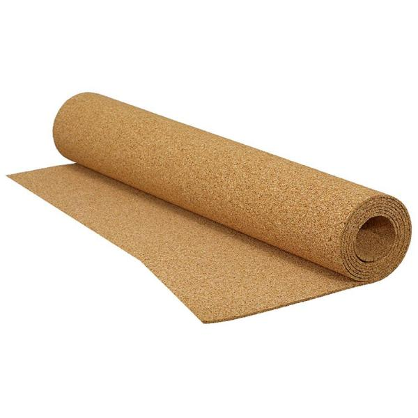200 sq. ft. 4 ft. X 50 ft. x 1/8 in. Cork Underlayment Roll for Ceramic Tile, Stone, Marble and Engineered Hardwood