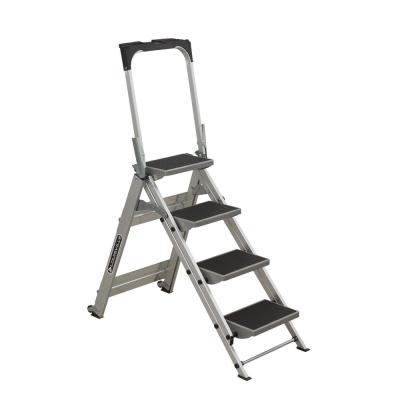 Gorilla Ladders 4 Step Aluminum Ultra Light Step Stool Ladder With 225 Lb Load Capacity As 4g The Home Depot