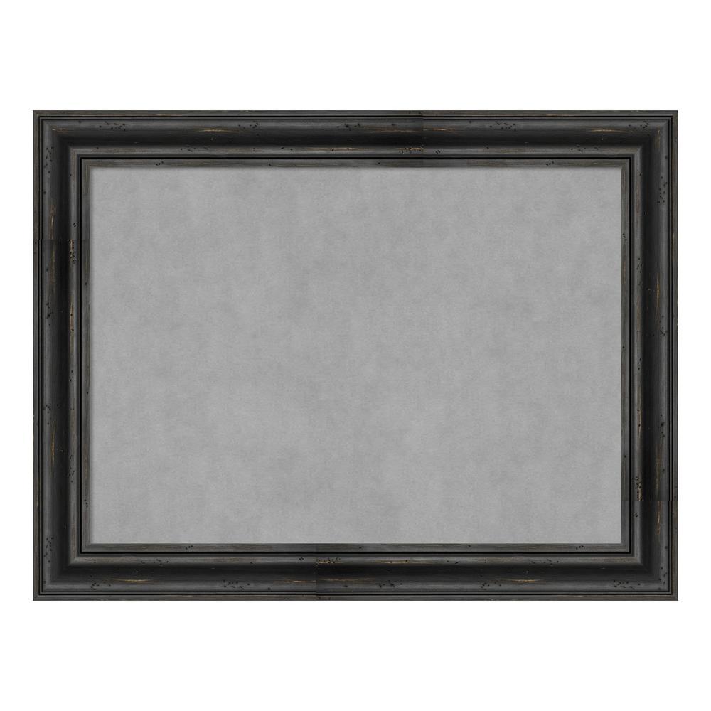 Rustic Pine Black Framed Magnetic Memo Board