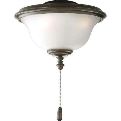 Ashmore Collection 2-Light Antique Bronze Ceiling Fan Light