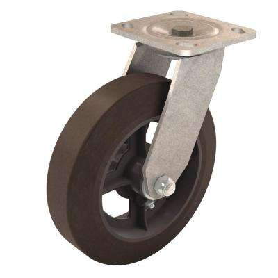 8 in. Solid Rubber Swivel Caster for Mortar Buggy