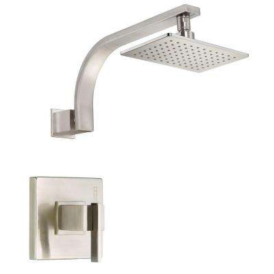 Sirius Single-Handle Pressure Balance Shower Faucet Trim Kit in Brushed Nickel (Valve Not Included)