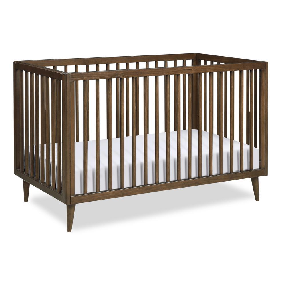 Novogratz Harper Walnut 3-in-1 Convertible Baby Crib for ...