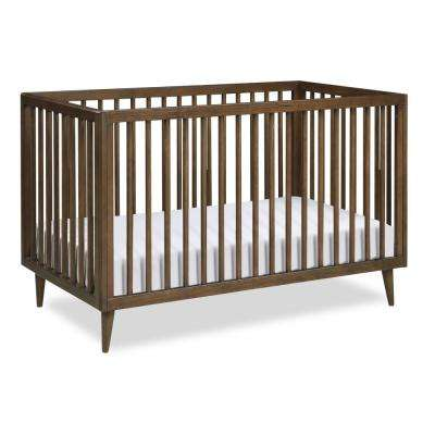 Harper Walnut 3-in-1 Convertible Baby Crib for Nursery