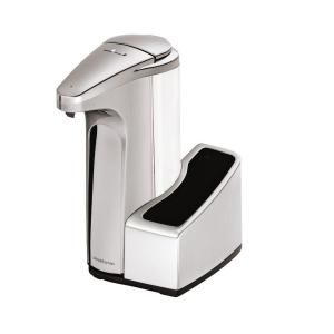 Sensor Soap Pump Dispenser With Caddy In Brushed Nickel