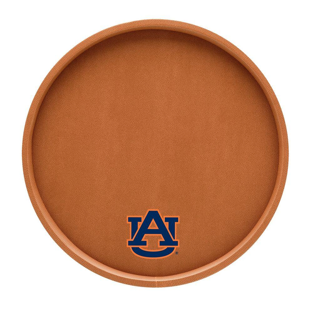 Kraftware Auburn 14 in. Basketball Texture Deluxe Round Serving Tray