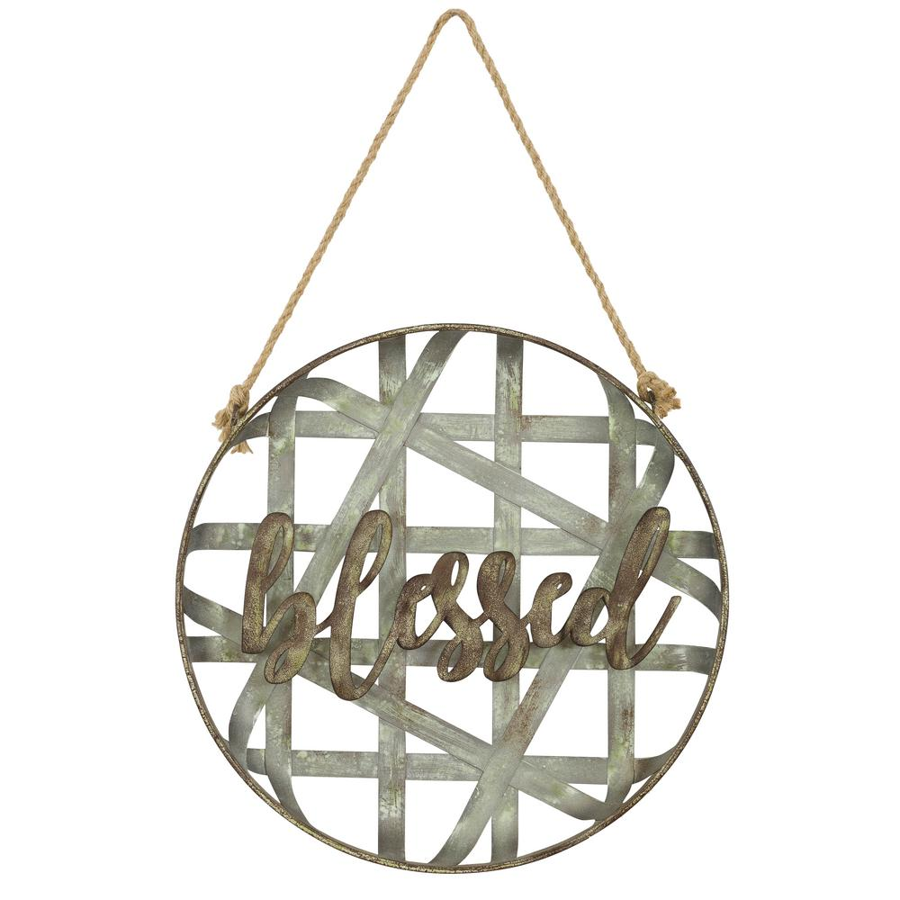 Aspire Home Accents Blessed Metal Rustic Wall Decor, Rustic Finish was $69.0 now $38.14 (45.0% off)
