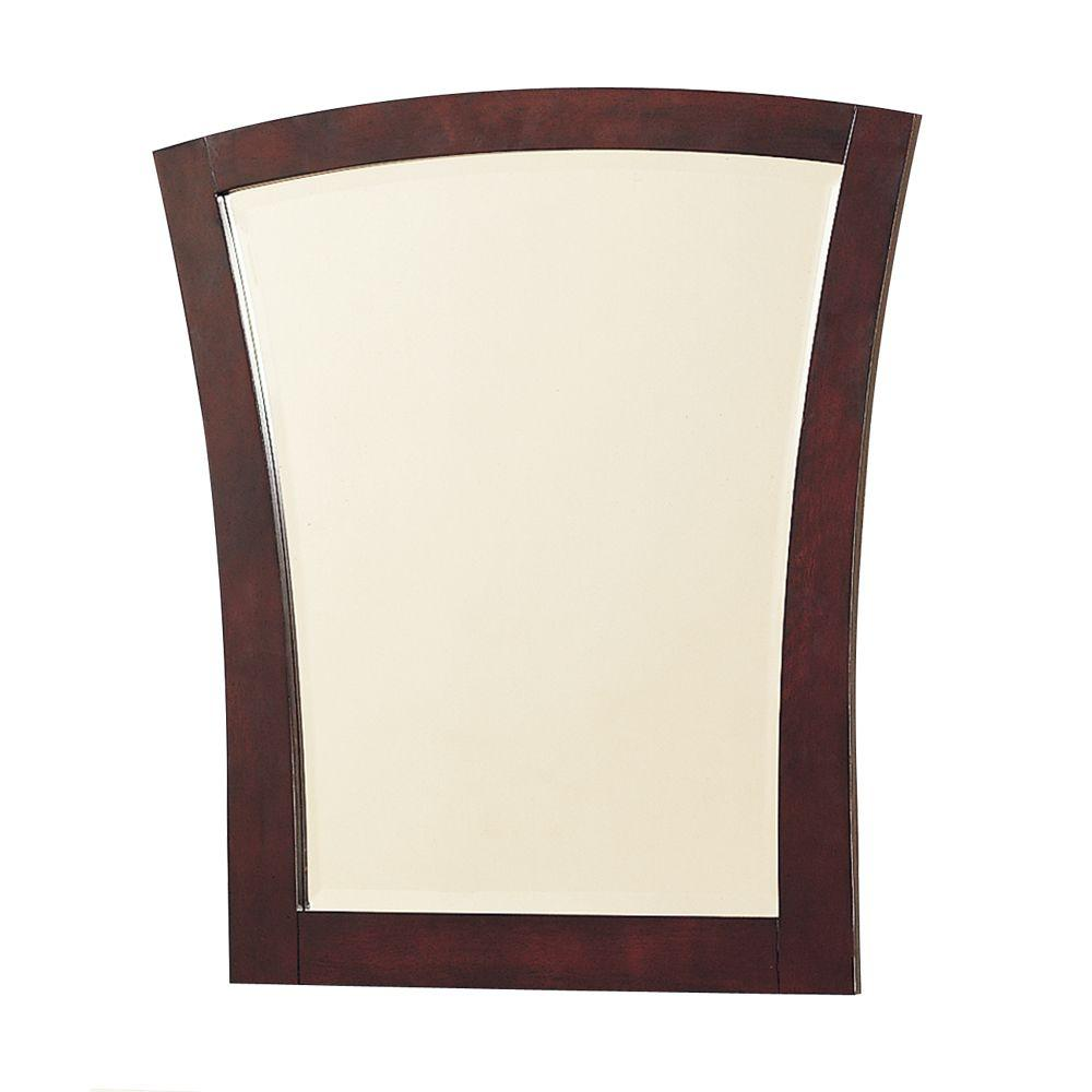 Pegasus Cairo 30 in. x 27 in. Framed Mirror in Maple-DISCONTINUED