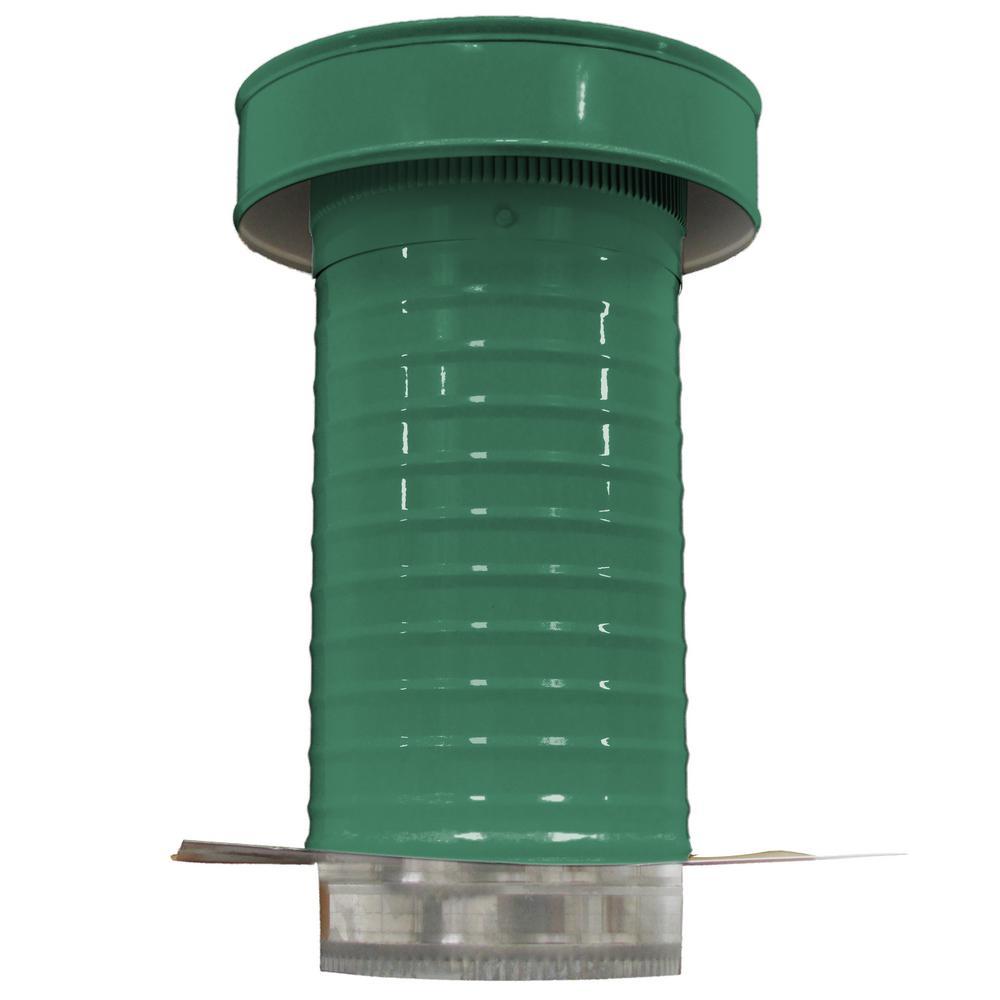 7 in. Dia. Aluminum Keepa Roof Jack in Green