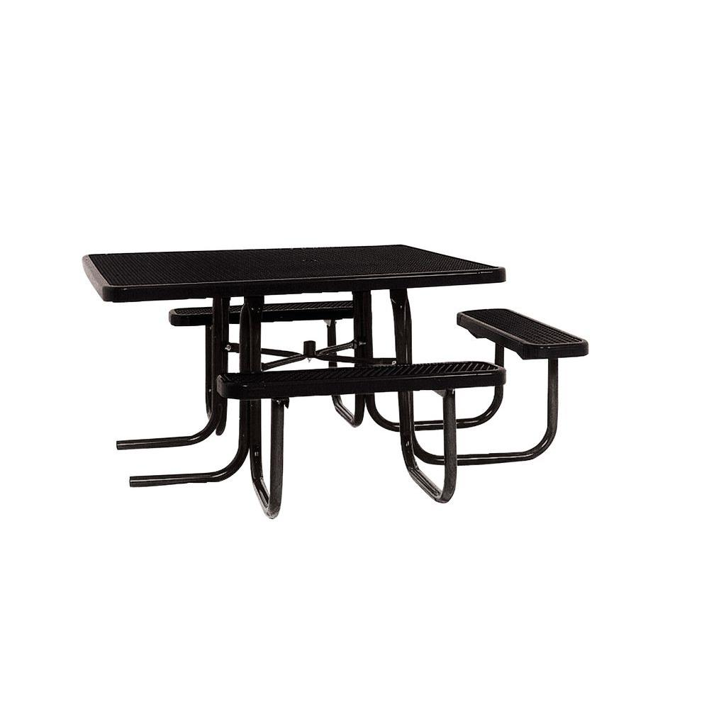 Portable Black Diamond Commercial ADA Square Picnic Table