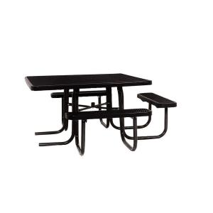 Portable Black Diamond Commercial ADA Square Picnic Table by